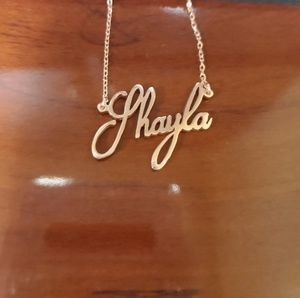Jewelry - Rose Gold Name plate necklace